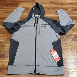 The North Face Men's LARGE Mack Ease Fz Hoodie Gra